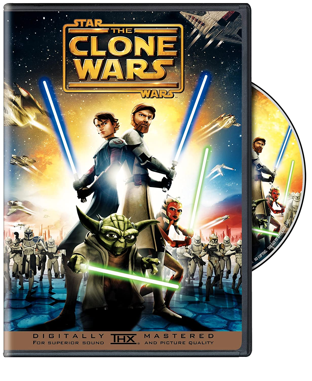 Star Wars The Clone Wars Widescreen Edition Matt Lanter Ashley Eckstein James Arnold Taylor Dee Bradley Baker Christopher Lee Samuel L Jackson Anthony Daniels Dave Filoni Movies Tv