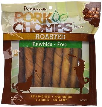 Premium Cerdo Chomps Twistz de Carne de Cerdo asado, Grande, 15 CT
