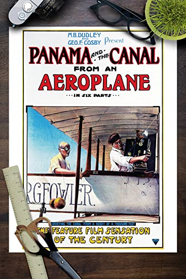 Amazon.com: Panama and the Canal Aeroplane Movie (9x12 Art Print, Wall Decor Travel Poster): Everything Else