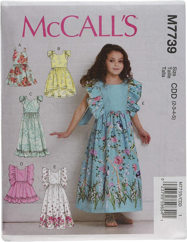 McCall Pattern Company M7739CDD Childrens//Girls Dresses Pattern