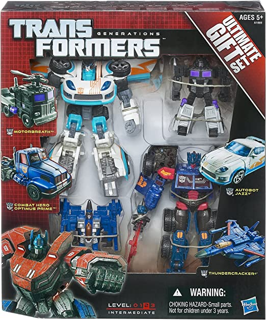 Transformers Generations Ultimate Ensemble Cadeau Jazz COMPLET RTS Deluxe