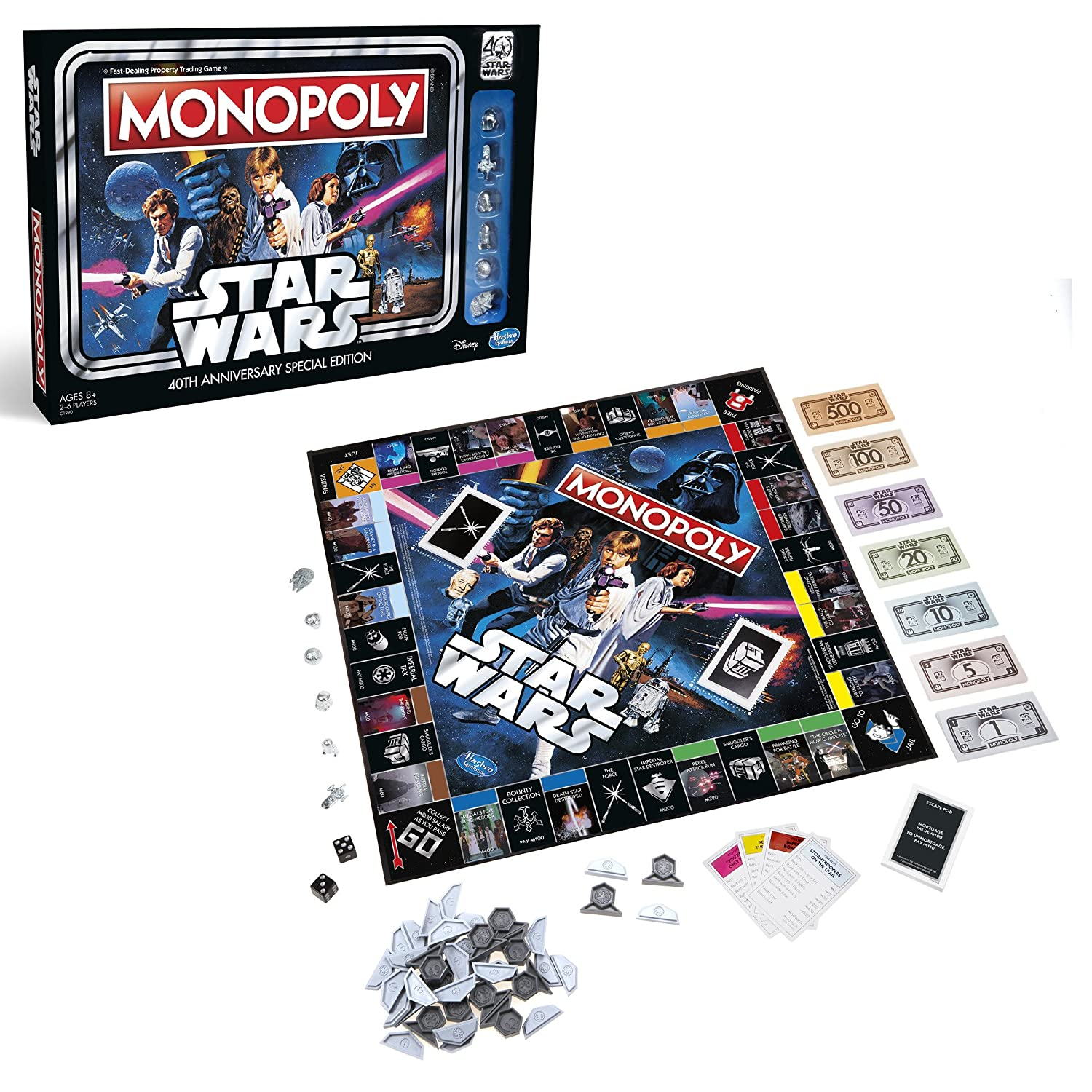 Hasbro Monopoly Game Star Wars...