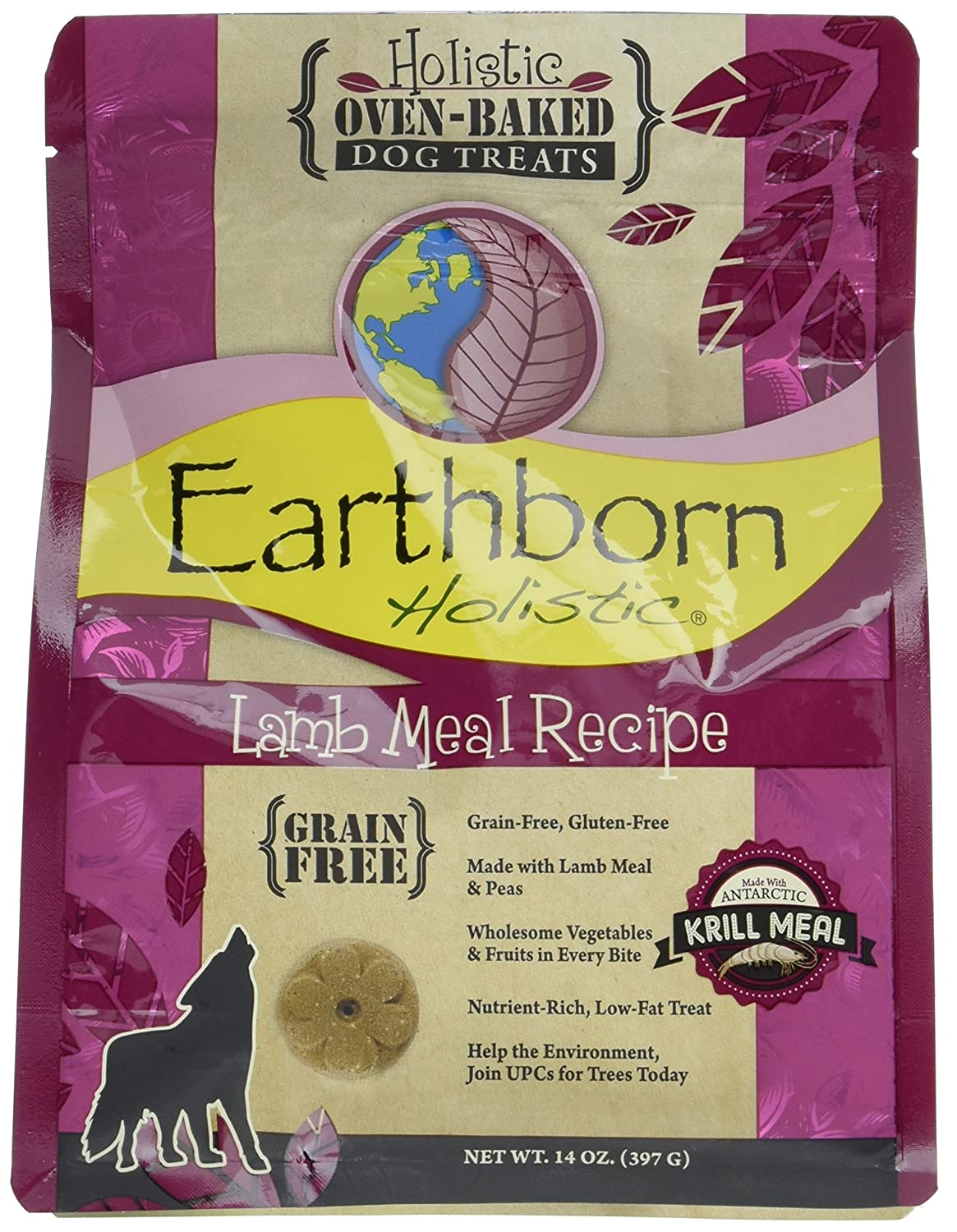 Earthborn Holistic Lamb Meal Recipe Holistic Oven-baked Dog Treats (Lamb)