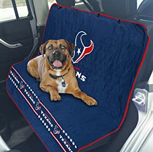 NFL CAR SEAT COVER - HOUSTON TEXANS Waterproof, Non-slip BEST Football LICENSED PET SEAT cover for DOGS & CATS.