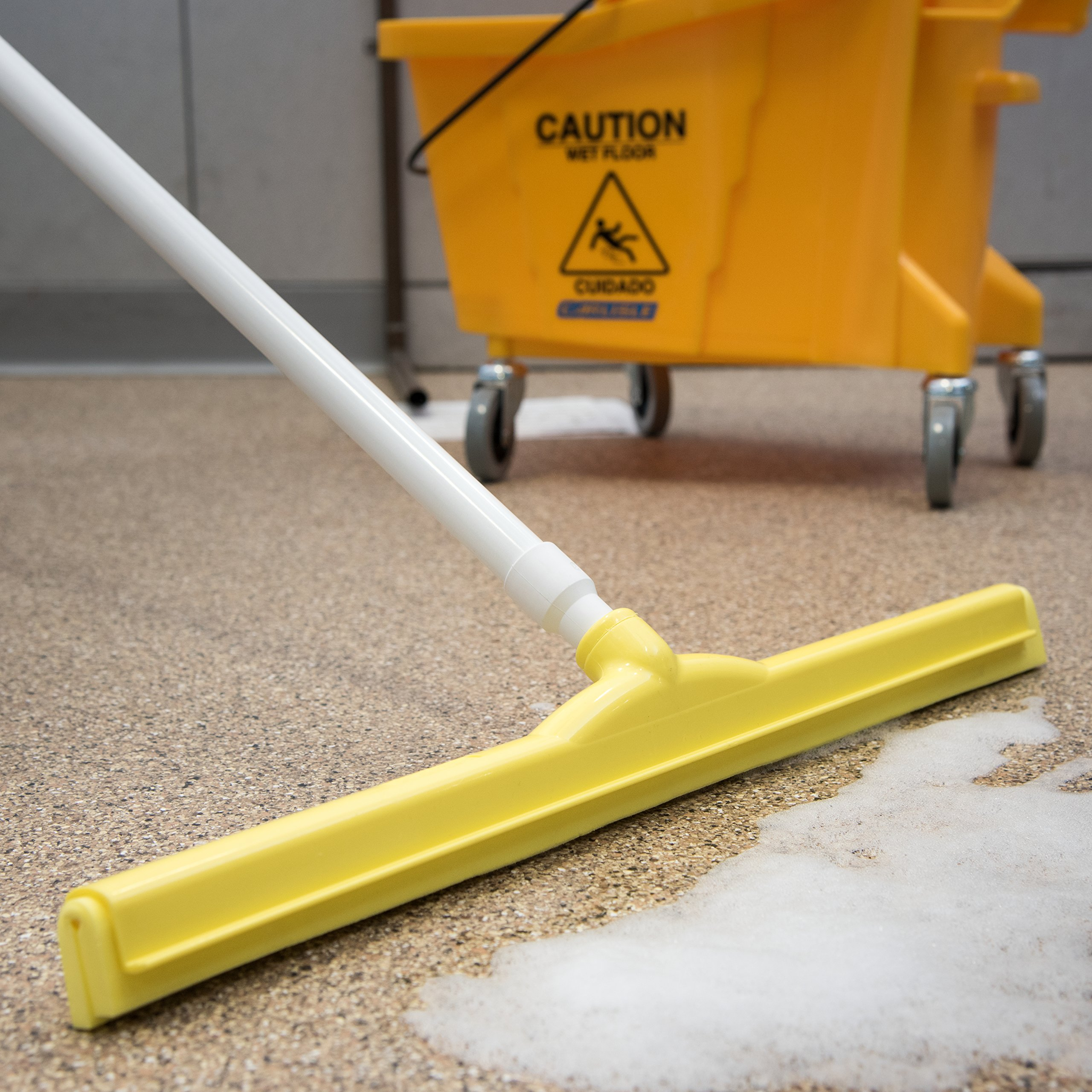 Carlisle 4156804 Spectrum Double Foam Rubber Floor Squeegee, 24'' Width, Yellow (Case of 6) by Carlisle (Image #5)
