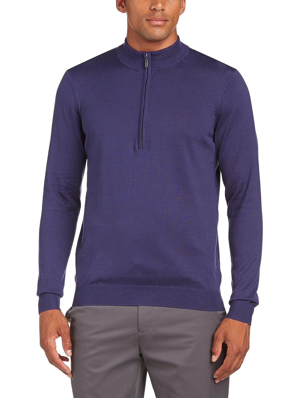 Ashworth Herren Sweatshirt Pima mit halblangem Reißverschluss