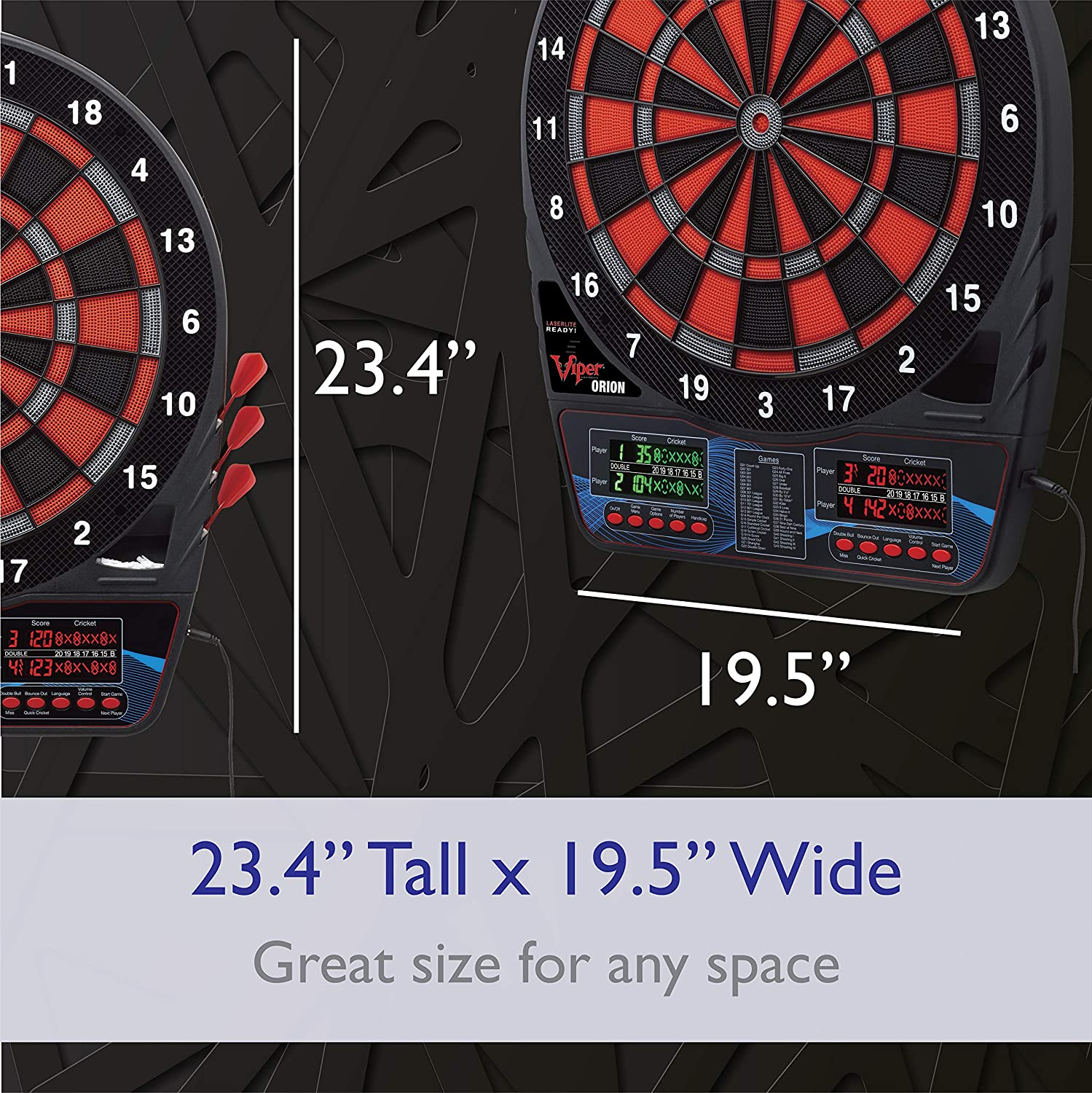 Viper Orion Electronic Soft Tip Dartboard Cabinets Sports ...