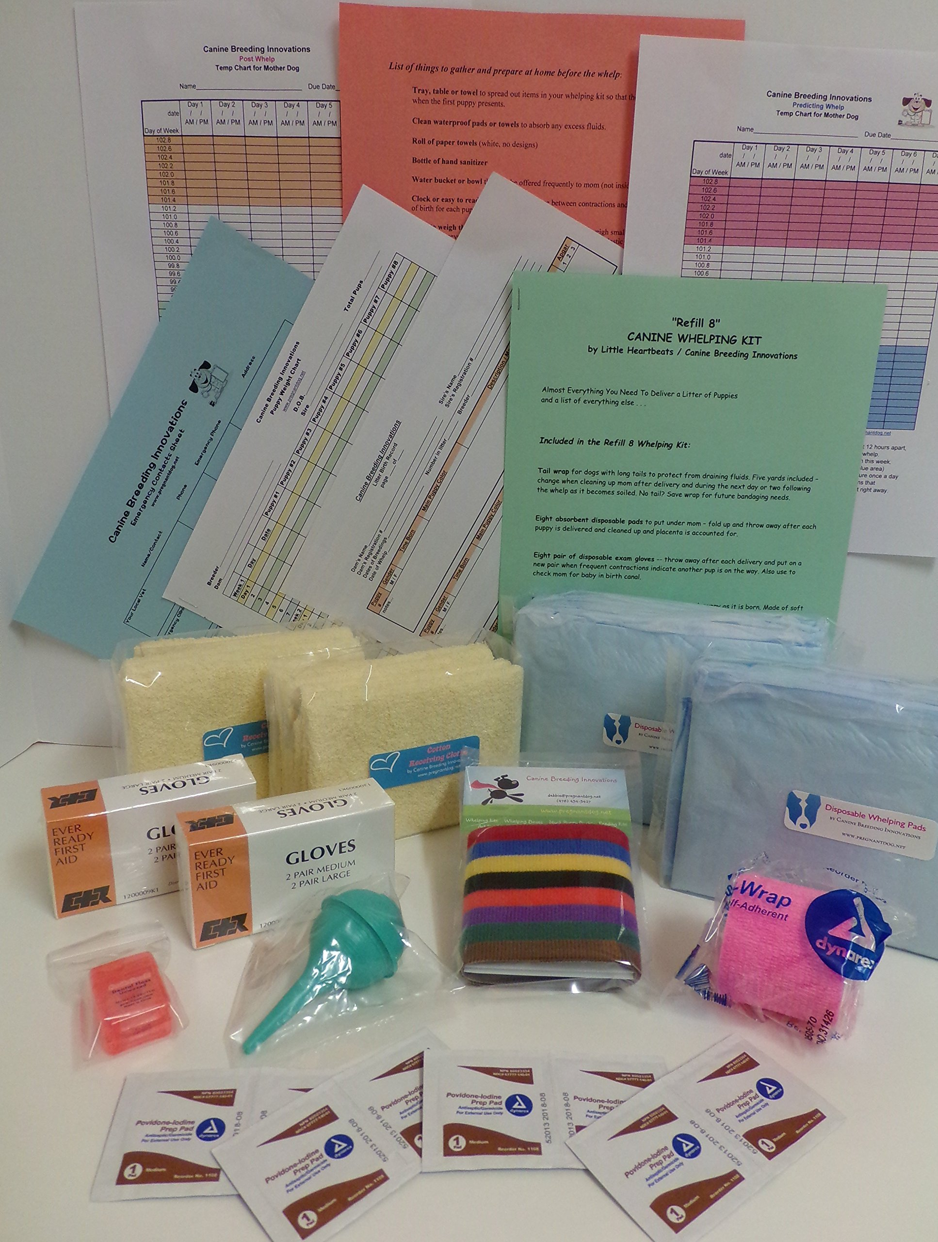Little Heartbeats Whelping Whelping Kit Refill for up to 8 for Puppies Dogs by Little Heartbeats Whelping