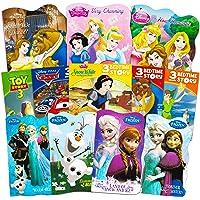 Disney Frozen Pixar Princess Board Book Ultimate Set ~ Bundle Includes 12 Books for Toddlers Featuring Elsa, Ariel, Cinderella, Belle, and Other Disney Favorites