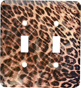 """3dRose lsp_38024_2""""Leopard Waves-Animal Print-Nature Double Toggle Switch"""