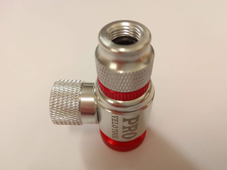 Inflador de CO2 para inflar los neumáticos. Compatible con válvulas Presta y Schrader. Bomba infladora para neumáticos de carretera y bicicleta de montaña.