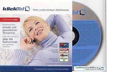 klickTel Telefon- und Branchenbuch inkl. Rückwärtssuche Herbst 2012 OEM
