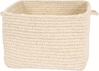 product image for Colonial Mills Chunky NAT Wool Square Basket, 18 by 12-Inch, Natural