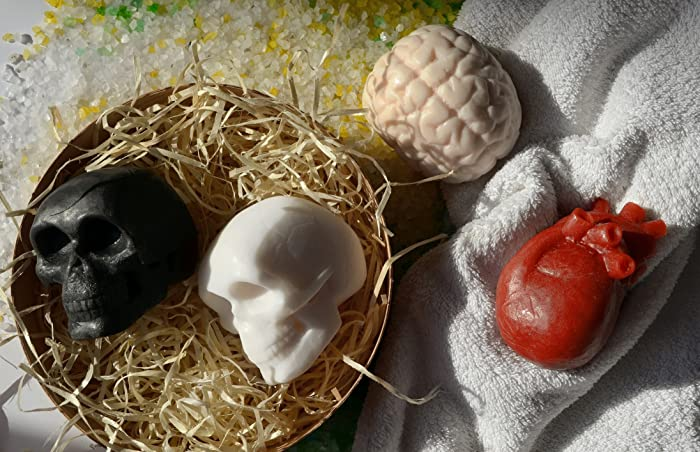 Amazon.com: Human Organs Heart Brain Skull HANDMADE Bar Soap ...