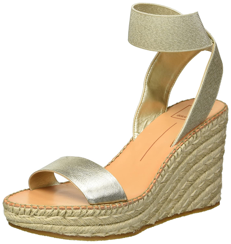 Dolce Vita Women's Pavlin Wedge Sandal B07B29R6P4 8 B(M) US|Lt Gold Leather