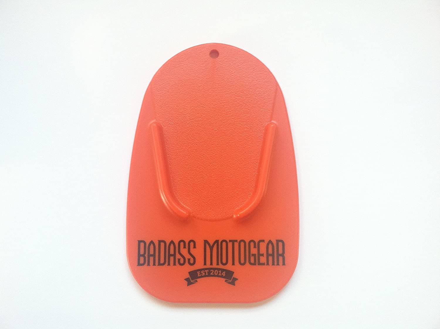 Several Colors Rest Your Kick Stand on It Like Coaster Durable Rugged Badass Moto Gear Motorcycle Kickstand Pad Made in the USA Helps You Park Your Bike on Hot Pavement Blue Grass Soft Ground