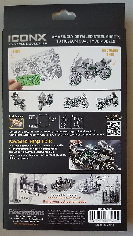Metal Puzzle Metal Earth Fascinations Iconx Motorcycle 3D Laser Cut Models, Rompecabezas de Metal