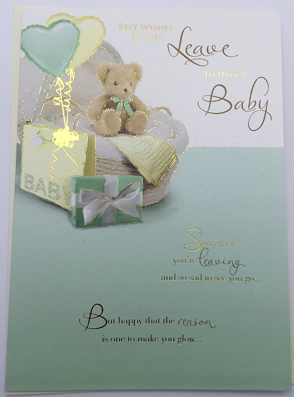 Leaving to have a baby greetings card amazon kitchen home kristyandbryce Choice Image