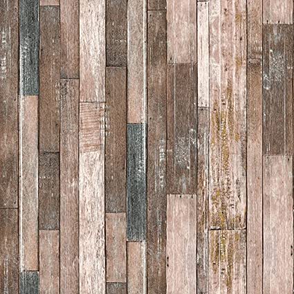 Blooming Wall Distressed Multicolor Weathered Beachwood Wood