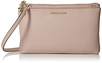 dd4c59a10c3b Michael Kors Adele Leather Double Zip Crossbody Bag  Handbags ...