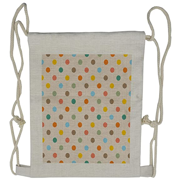 3d94334413e1 Image Unavailable. Image not available for. Color  Lunarable Polka Dot  Drawstring Backpack ...