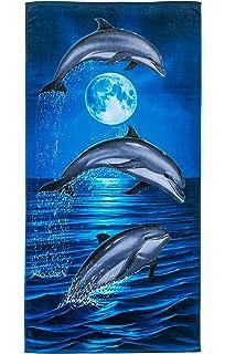 Marlin Velour Brazilian Beach Towel 30x60 Inches Dohler AF-958