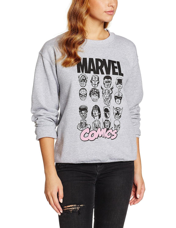 TALLA XL. Marvel Multi Head Sudadera para Mujer