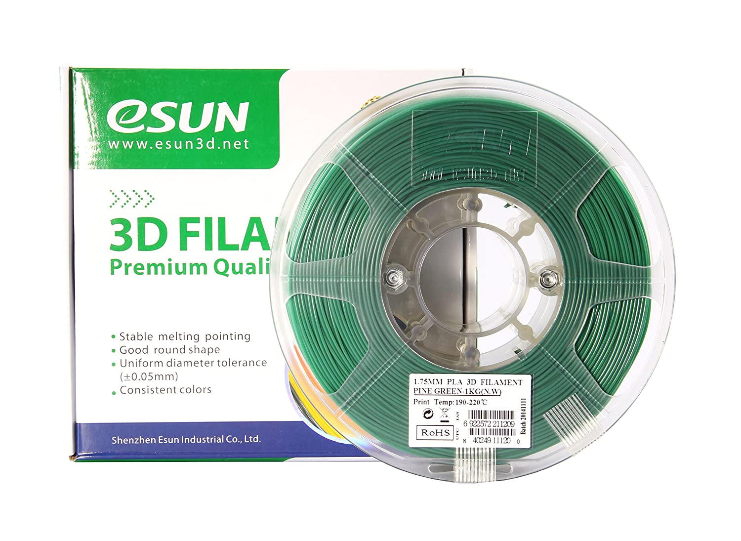 Color printing csun - Amazon Com Esun 1 75mm Pine Green Pla 3d Printer Filament 1kg Spool 2 2lbs Pine Green Industrial Scientific