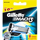 Gillette Mach 3 Razor Refill Cartridges 8 Count