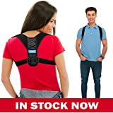 Posture Corrector Comfortable for Women and Men - FDA APPROVED - Upper Back Brace Clavicle Support Device for Thoracic Kyphosis and Shoulder - Neck Pain Relief