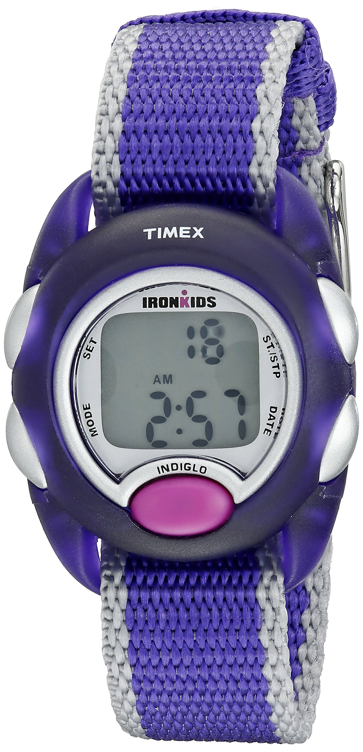 Timex Kids' T7B9839J IronKids Translucent Purple Resin Watch by Timex