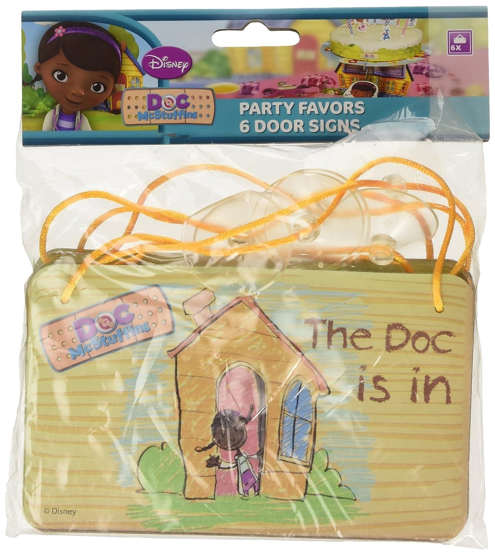 Disney Junior Amscan Doc Mcstuffins 6 Piece Door Signs Card Party