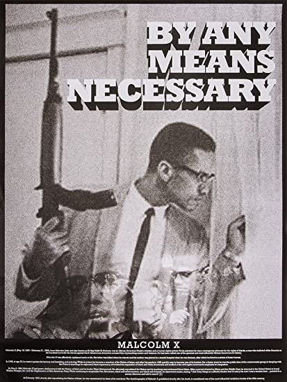 Tri Seven Entertainment Malcolm X Poster By Any Means Necessary With Bio Print African American