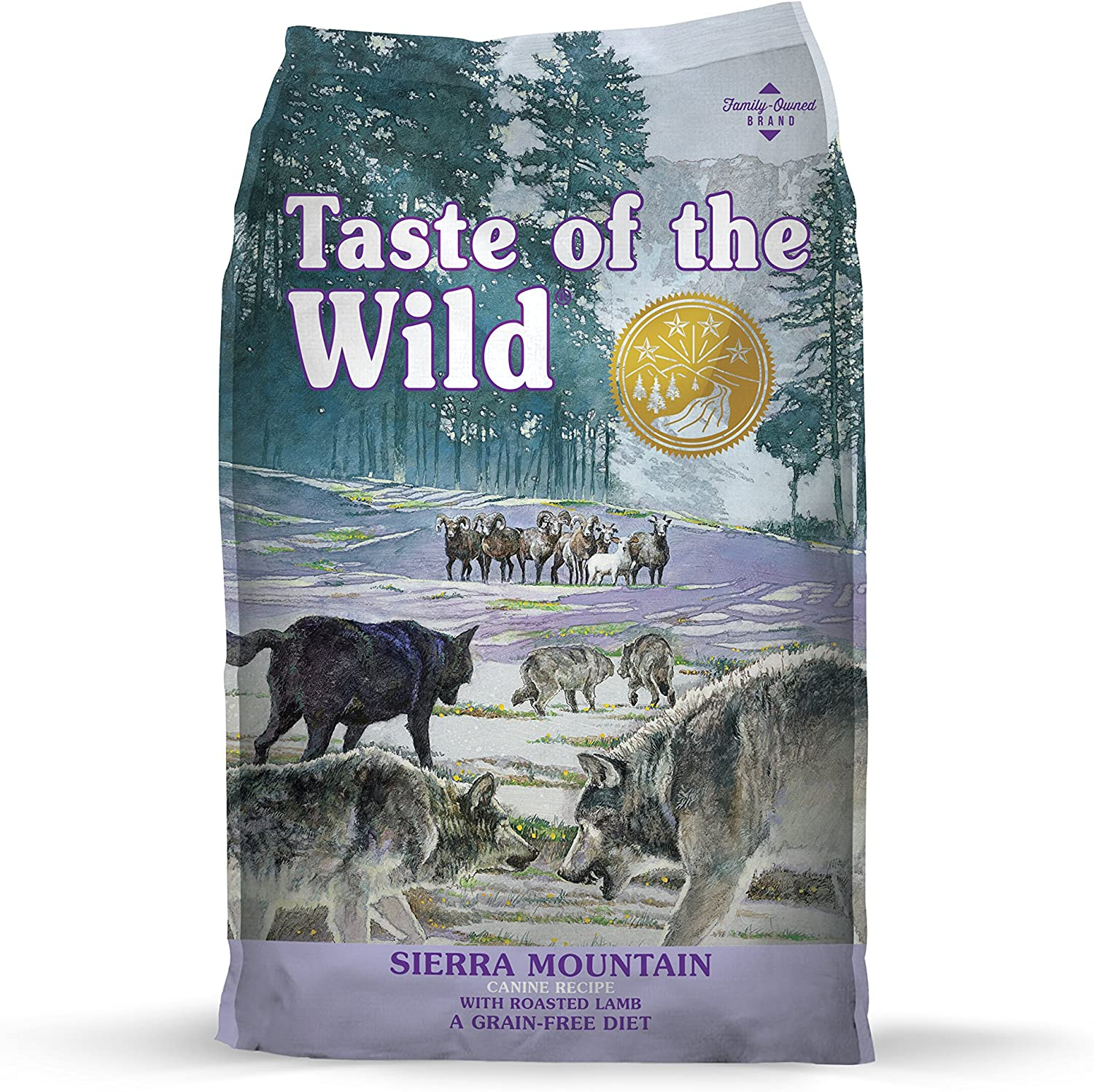 5. Taste of the Wild Sierra Mountain Grain-Free Dry Dog Food
