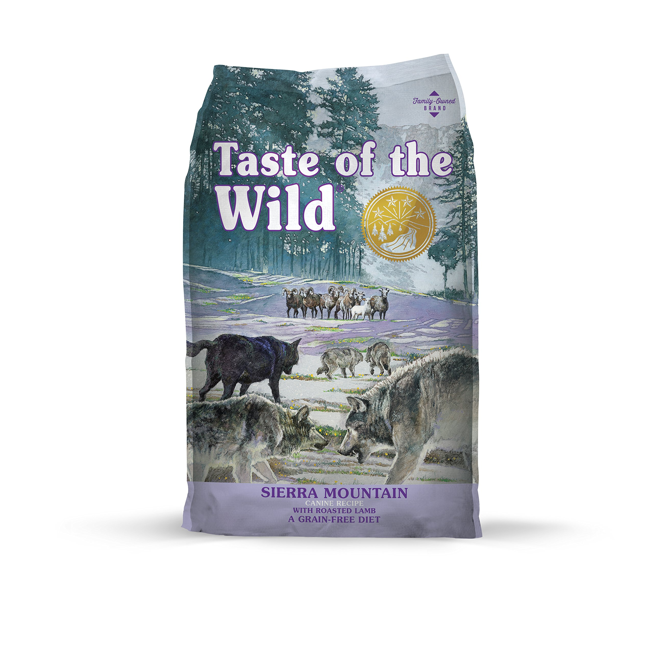 Taste of the Wild Grain Free High Protein Real Meat Recipe Sierra Mountain Premium Dry Dog Food, 28 lb