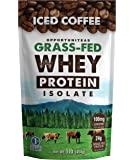 Coffee Protein Powder - Premium Swiss Instant Coffee + Nutritious Grass Fed Whey Isolate Protein. Delicious Creamy Coffee Taste With No Sugar, Sweetener, Flavoring. Perfect Breakfast Drink Mix - 1 lb