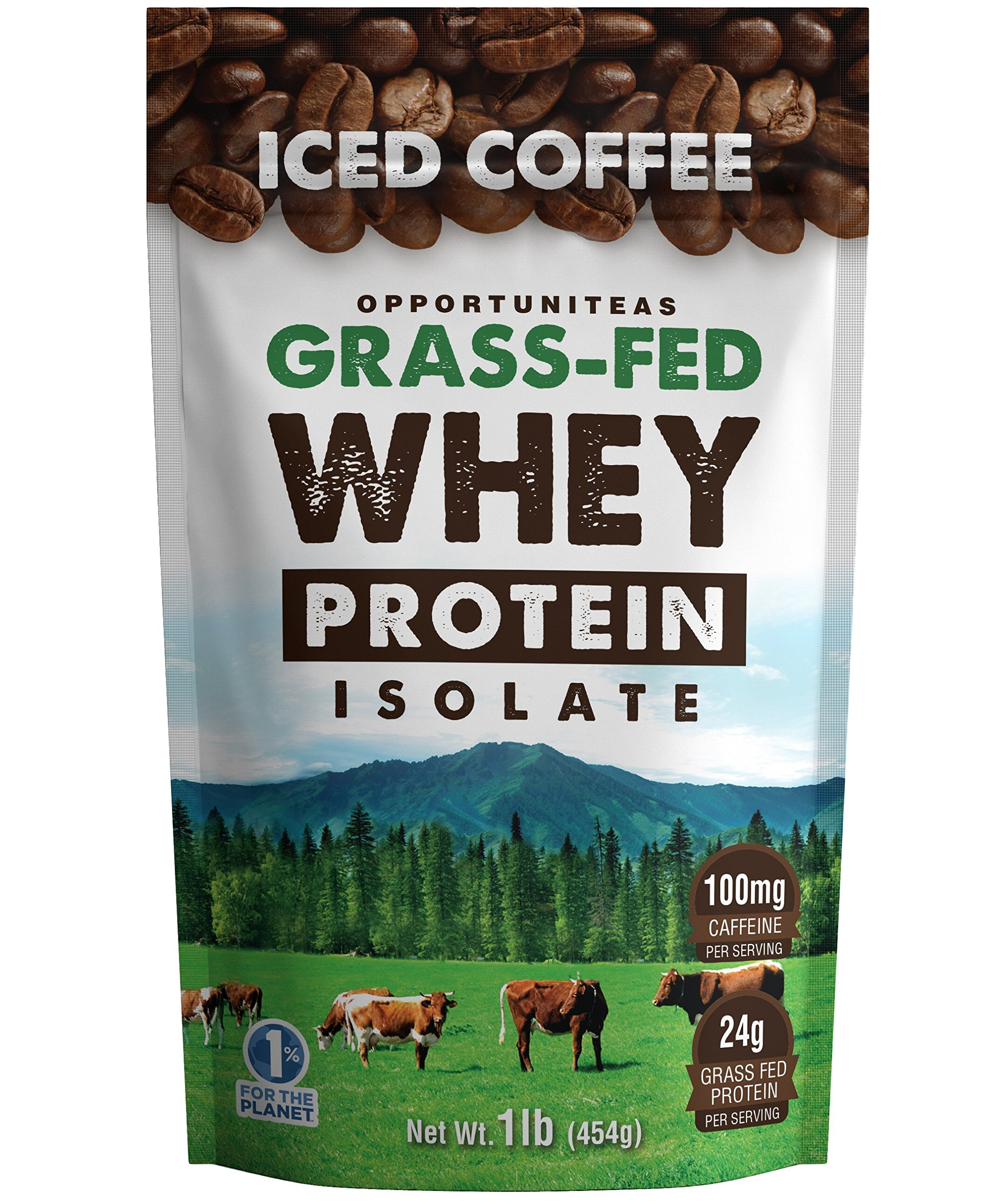 High Protein Coffee Powder - Healthy Grass Fed Whey Isolate + Delicious Colombian Coffee - All Natural Pre Or Post Workout Drink Mix Shake - No Added Sugar, Sweetener, Soy, GMO or Gluten - 1 lb