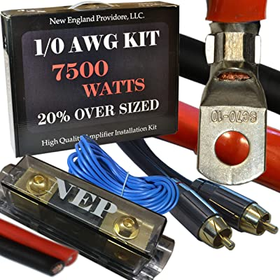 20 Foot 1/0 Gauge Amp Kit Featuring 20% Oversized Cables