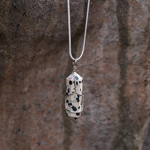 51 Ct Natural Unique Dalmatian Gemstone Pendant Oval Shape Size 21x33mm For Making Necklace Macrame Pendant Dalmatian H-25