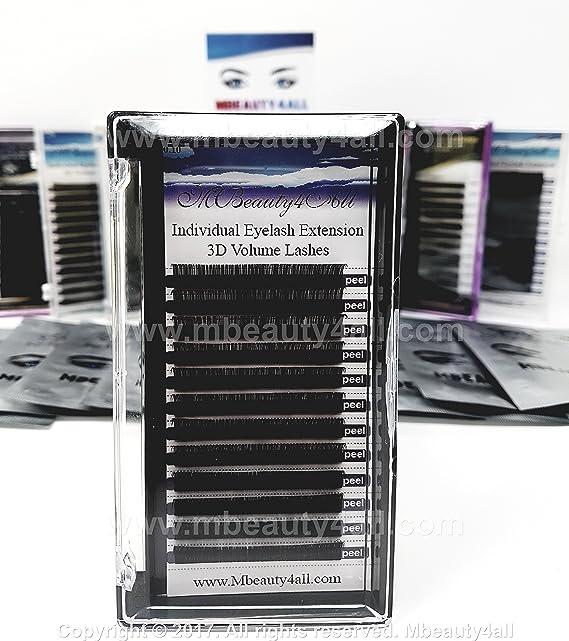 Pestañas de volumen ruso, de MBeauty4all, extensiones de pestañas individuales, curvatura 0,10 B/C/D, (mezcla (8 – 14 mm)).: Amazon.es: Belleza