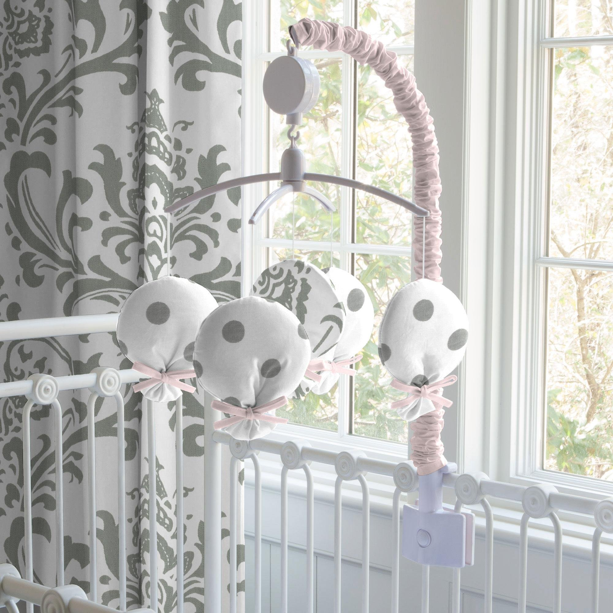 Carousel Designs Pink and Gray Elephants Mobile