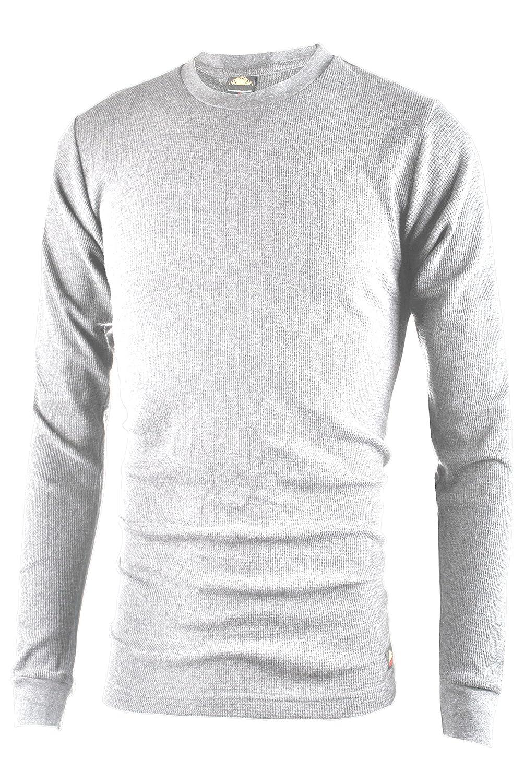 Ollie Arnes Men's Long Sleeve Heavy Warm Thermal Crew Neck Shirt 100% Cotton Top