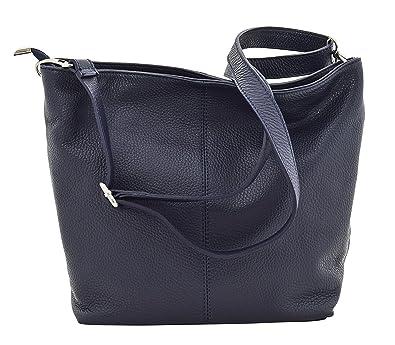 TOSCA Italienische Tasche Schultertaschen Damentasche Handtasche Echt Leder Made Italy