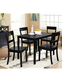 target marketing systems ian collection 5 piece indoor kitchen dining set with 1 dining table and - Chairs For Kitchen Table