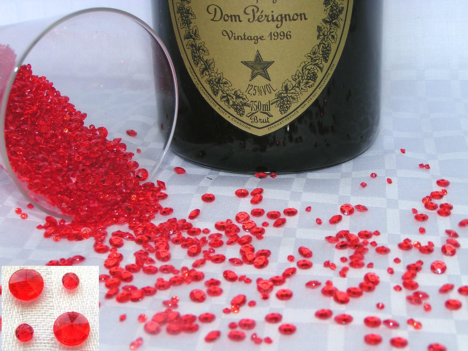 4000 ruby red 6 crystal diamond scatter table decorations 4000 ruby red 6 crystal diamond scatter table decorations celebrations wedding confetti party gems gem stones special occasion 6 amazon junglespirit Gallery