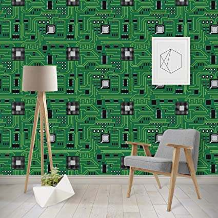 amazon com rnk shops circuit board wallpaper surface covering
