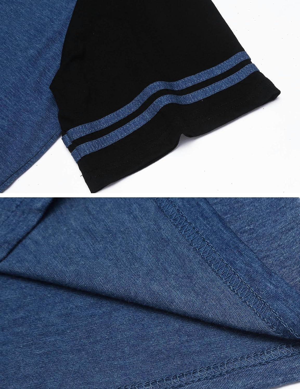 Yealsha Men/'s Nightshirt Cotton Nightwear Soft Comfy Henley Sleep Shirt Sleepwear