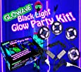 Black light glow party kit for large rooms 115W! 4 UV blacklight LED strips for neon parties, ultraviolet paint, Halloween, bedroom, stage display, poster, indoor glow in the dark, school dance hall, gym, 70s disco supplies, yoga 12V 5A Glowave SMD5050 395nm