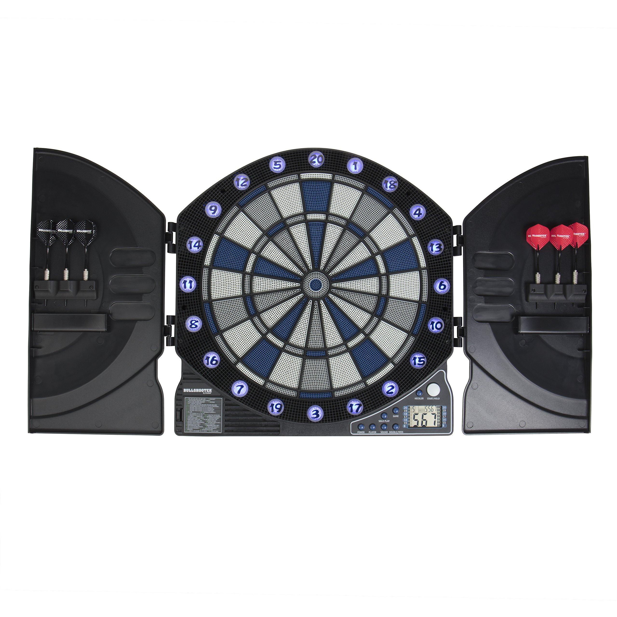 Arachnid Bullshooter by Illuminator 3.0 Electronic Dartboard and Cabinet with 13 LED Light Up Games