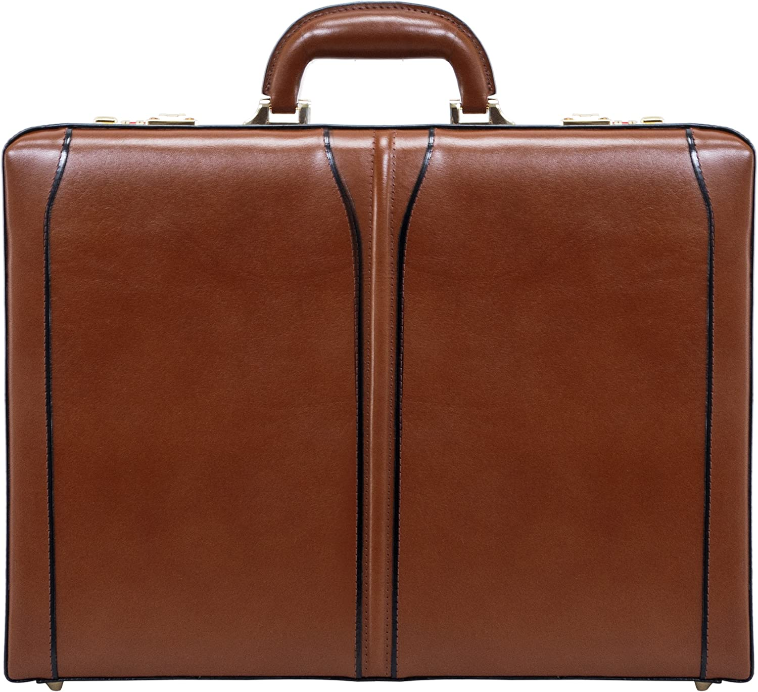 Leather 3.5 Attach/é Briefcase Lawson 80454 V Series McKlein Top Grain Cowhide Leather Brown